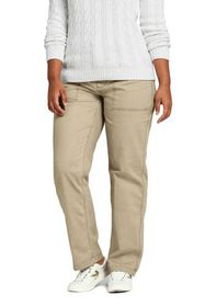 Lands End Women's Plus Size Mid Rise Field Chino P