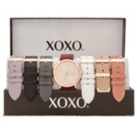 XOXO Womens Crystal Dial Rose Gold Watch & Band 7-