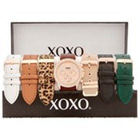 XOXO Womens Pave Crystal Rose Gold Watch & Band 7-