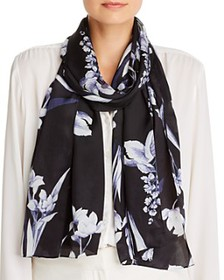 Echo - Floral Painting Silk Scarf