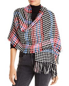 Echo - Multicolored Houndstooth Scarf