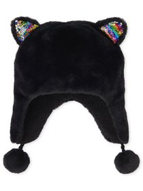 The Children's Place Big Girl Fur Cat Ears Hat