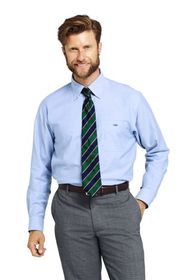 Lands End Men's Solid No Iron Supima Oxford Dress