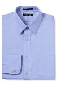 Lands End Men's Solid No Iron Supima Pinpoint Stra
