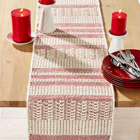"Crate Barrel Dasher 90"" Wool Table Runner"