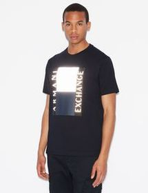 Armani REGULAR-FIT TEE WITH REFLECTIVE DESIGN
