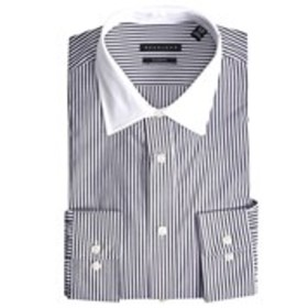 Men's Tailored Fit Striped Long Sleeve Dress Shirt