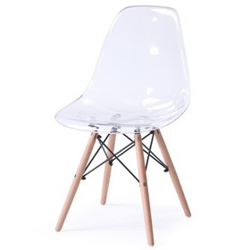 Modern Mid Century Transparent Dining Accent Chair