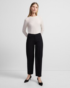 Stretch Wool Carrot Pant