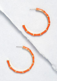 Drops of Drama Hoop Earrings Orange