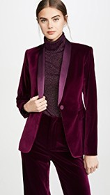 alice + olivia Macey Fitted Strong Shoulder Blazer