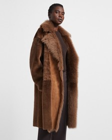 Textured Shearling Coat
