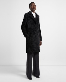 Shearling Column Coat