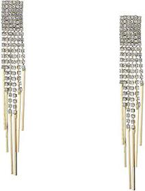 Kenneth Jay Lane Gold/Crystal 6 Strand Post Earrin