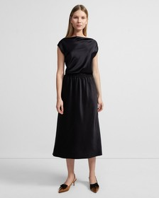 Double Sateen Easy Pull-On Skirt