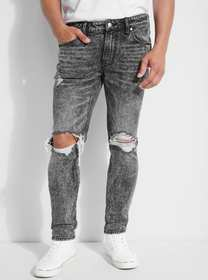 Destroyed Acid Wash Skinny Jeans