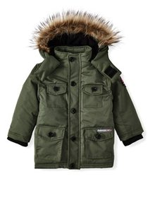 Avalanche Water Resistant Parka with Faux Fur Hood