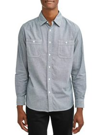 Lee Men's Long Sleeve Stretch Oxford Woven, Availa
