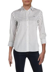 Lauren Ralph Lauren Womens Petites Striped Sheer B