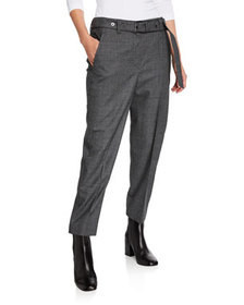 Brunello Cucinelli Houndstooth Wool Trousers