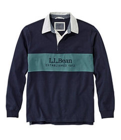 LL Bean Lakewashed® Rugby, Embroidered Logo, Long-