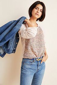 Anthropologie Francie Ruched Pullover