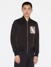 Armani BOMBER WITH REFLECTIVE LOGO
