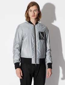 Armani BOMBER WITH REFLECTIVE SHELL