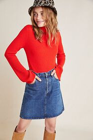 Anthropologie Betty Ribbed Cashmere Turtleneck