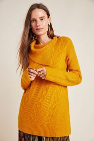 Anthropologie Sylvie Cable Knit Sweater