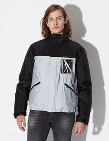 Armani REFLECTIVE PADDED JACKET WITH HOOD