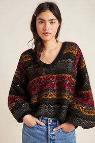 Anthropologie Jacquelyn Shimmer Sweater