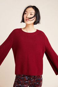 Anthropologie Brianna Bell-Sleeved Sweater