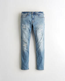 Hollister Advanced Stretch Skinny Jeans, RIPPED AN