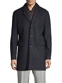 Michael Kors Classic Heathered Coat NAVY HEATHER