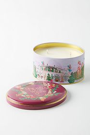 Anthropologie Holiday Tin Candle