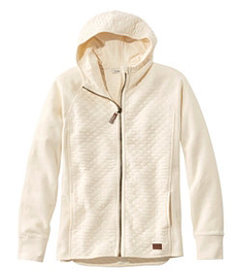 LL Bean Quilted Full-Zip Jacket, Hooded