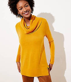 Luxe Knit Cowl Neck Tunic Sweater