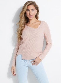 Alivia Asymmetrical Ribbed Sweater
