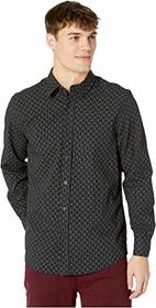 Ben Sherman Long Sleeve Dash Dot Checkerboard Shir