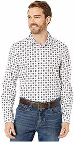 Perry Ellis Slim Fit Medallion Print Stretch Long