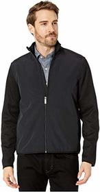 Perry Ellis Solid Stretch Full Zip Fleece Long Sle