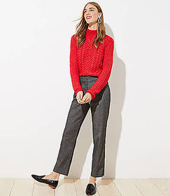 Brushed Flannel Slim Pencil Pants with Stretch Wai