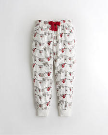 Hollister Flannel Sleep Joggers, WHITE PATTERN