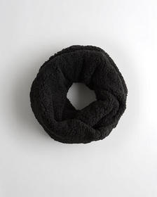 Hollister Sherpa Infinity Scarf, BLACK