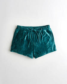 Hollister Velour Sleep Short, EMERALD
