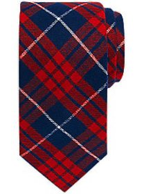 Tommy Hilfiger Red Tartan Narrow Tie