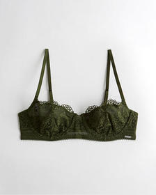 Hollister Unlined Balconette Bra, OLIVE