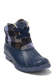 Sperry Saltwater 2-Eye Leather Faux Fur Duck Boot