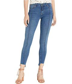 Free People Low Rise Pintuck Skinny Jeans
